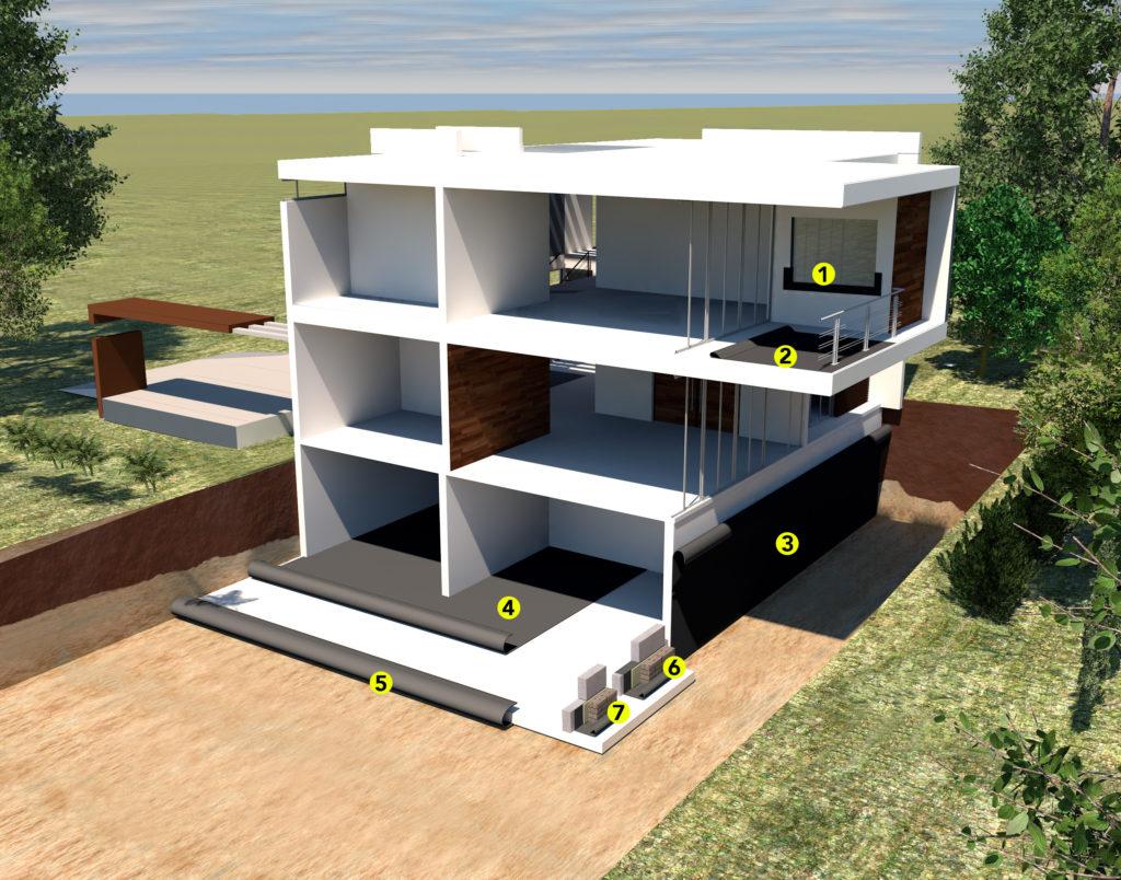 BAUDICHT EPDM Bauwerksabdichtung Anwendungsbereiche Illustration