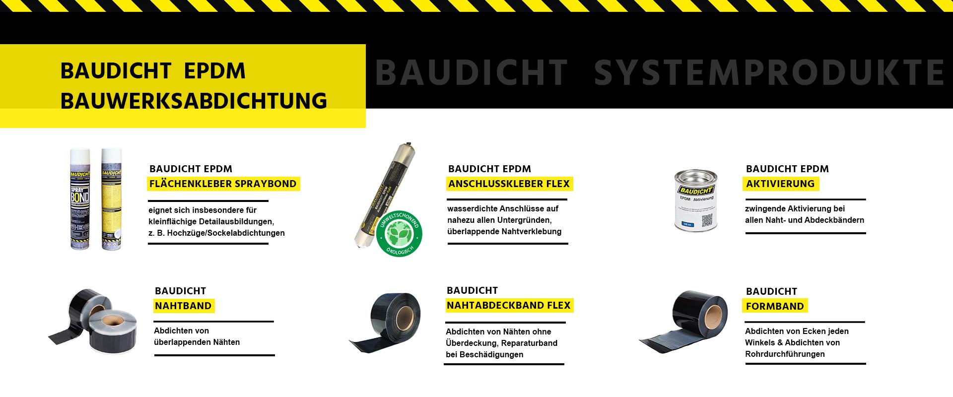 BAUDICHT EPDM Bauwerksabdichtung Systemprodukte