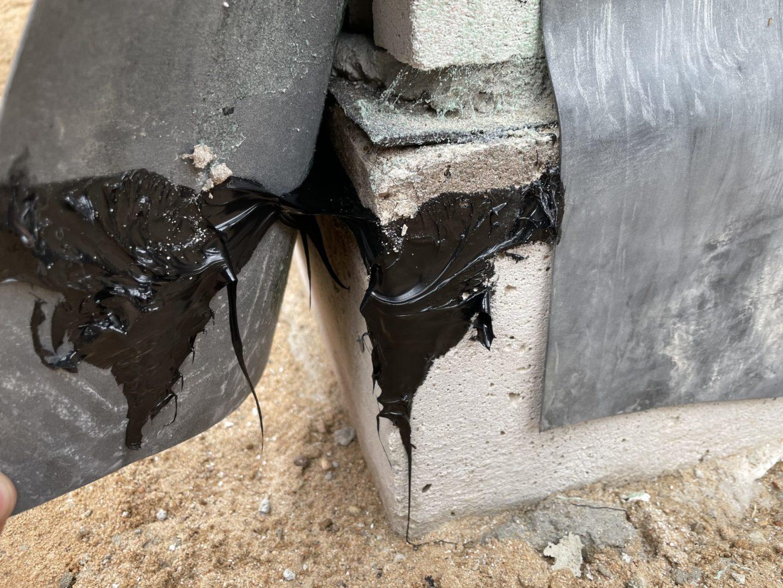 BAUDICHT EPDM Bauwerksabdichtung im Keller mit Anschlusskleber Flex