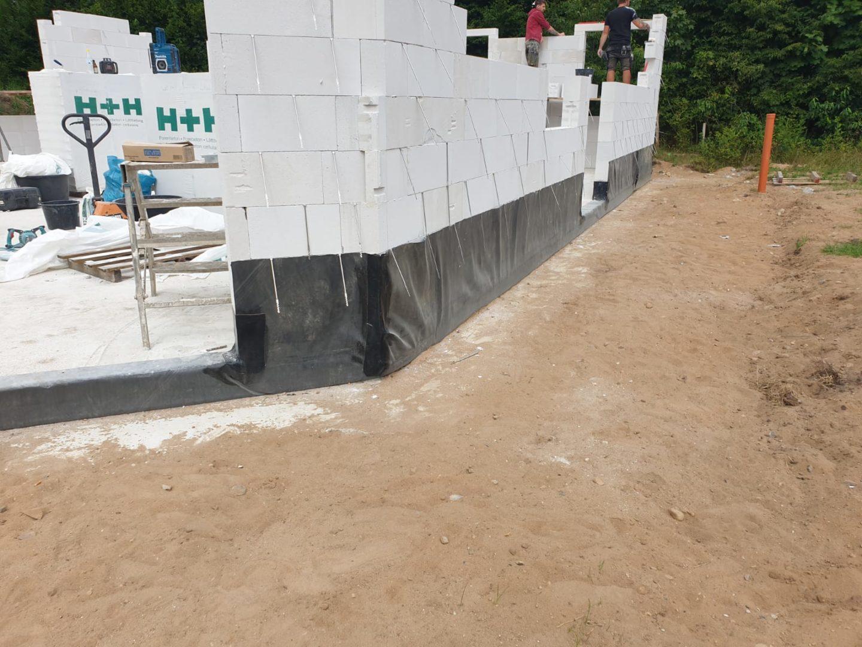 BAUDICHT EPDM Bauwerksabdichtung Hochzug an der Hauswand