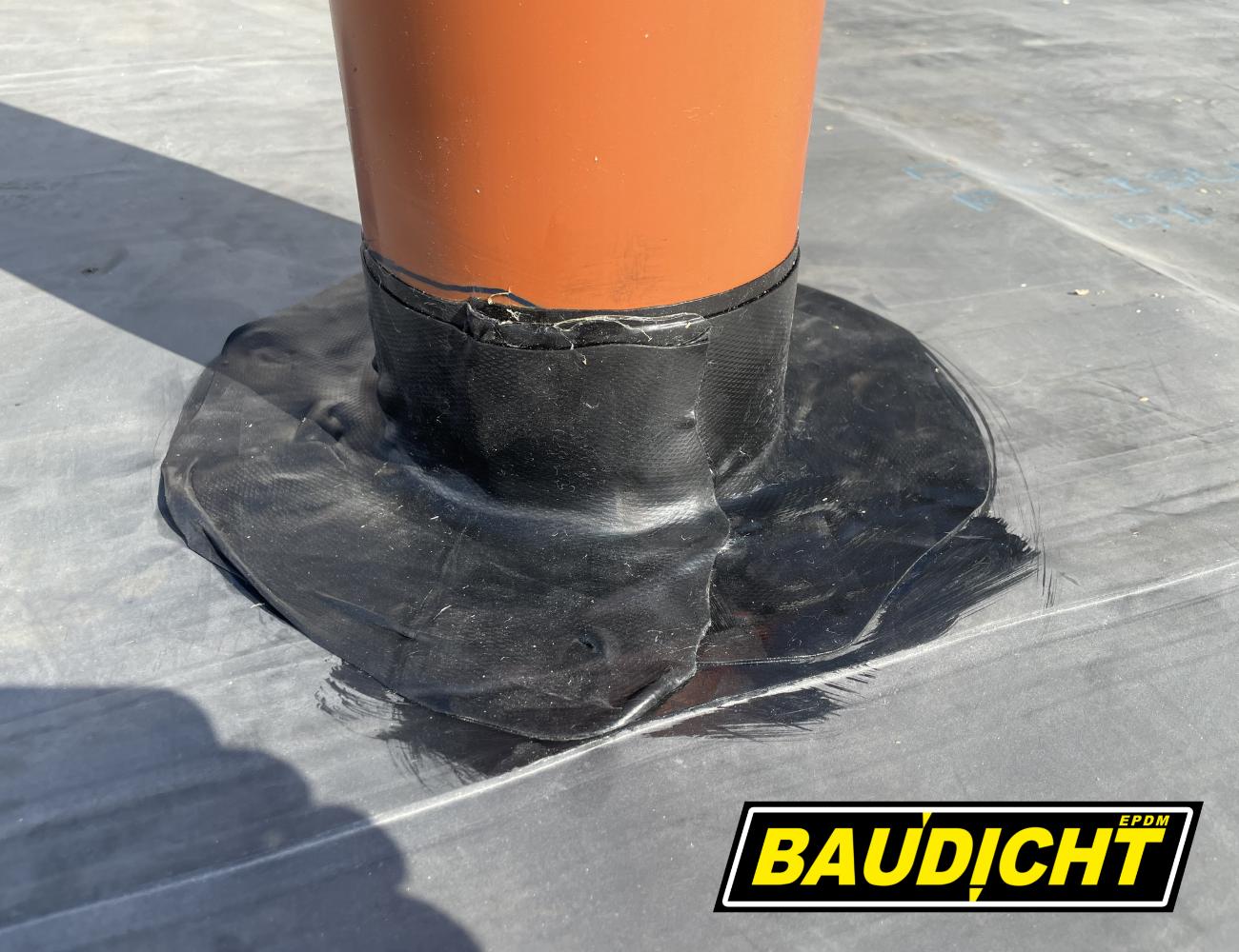 BAUDICHT EPDM Bauwerksabdichtung Rohrdurchdringung mit Formband abdichten