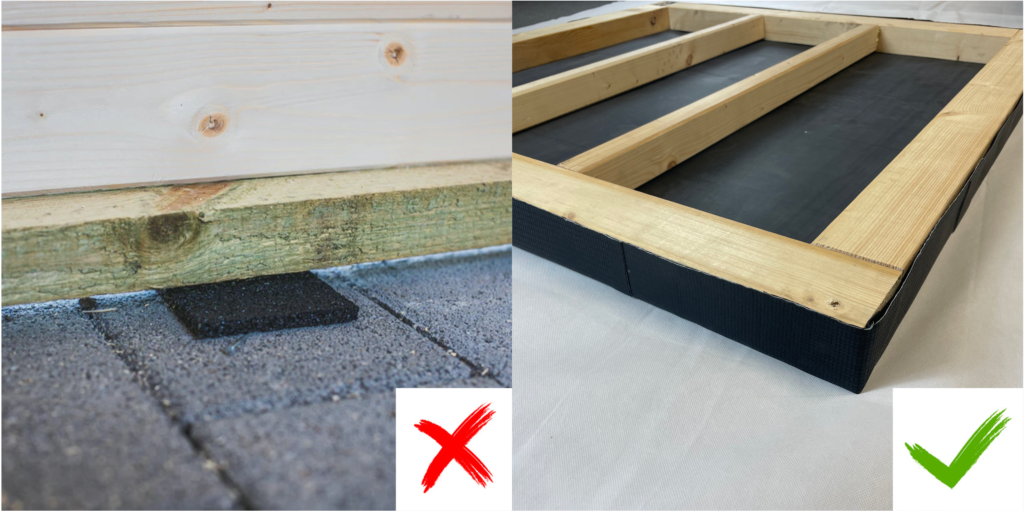 Vergleich Terrassengranulat vs. BAUDICHT EPDM